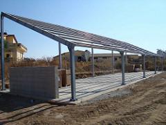 Tettoia Fotovoltaica Ad 1 Falda Mech Strutture In Acciaio